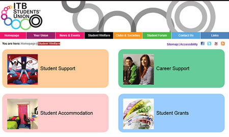 ITB Students Union Website Re-Design